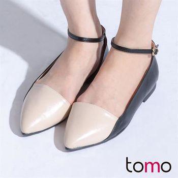 【TW Shoes】氣質配色內挖空繫踝瑪莉珍鞋【K120B3616】