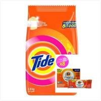 【美國 Tide】洗衣槽洗潔劑(75g*8/盒) *1+【Tide】洗衣粉-含Downy(2.5kg*2)