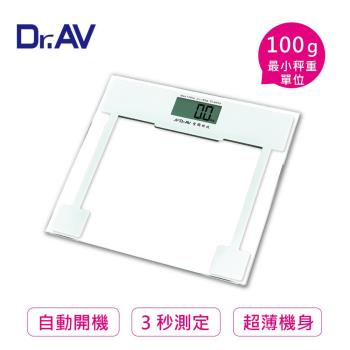 【Dr.AV】超薄大螢幕 電子體重計 (PT-400A)