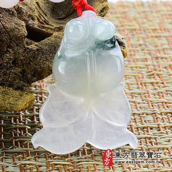 【東方翡翠寶石】金魚(金玉滿堂)A貨翡翠吊墜墜子(細糯種飄綠花)FI048