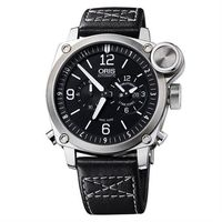 ORIS BC4 Flight Timer 飛行機械腕錶-黑x銀/42.7mm 0169076154164-0752258FC