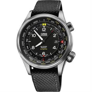 ORIS ProPliot Altimeter高度儀飛行錶/黑帆布-47mm 0173377054164-0752315FC