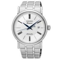 【SEIKO 精工】Premier 羅馬數字錶盤超薄機械腕錶(40mm/4R35-01C0S)