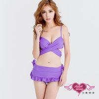 天使霓裳 海洋風範 二件式泳衣比基尼(紫M~XL) EE1501