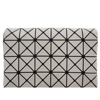 三宅一生 BAOBAO幾何方格4x6萬用卡片夾(霧面灰)
