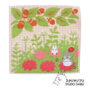 吉卜力 Totoro龍貓純棉小方巾/手帕(桃花朵朵)