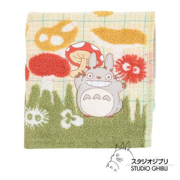 吉卜力 Totoro龍貓純棉方巾(蘑菇樂園)