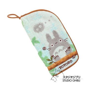 吉卜力 Totoro龍貓多功能拉鍊毛巾袋(棕木森林)