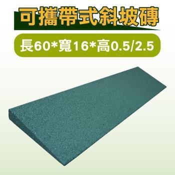 可攜帶式斜坡磚/斜坡板 長60*寬16*高0.5/2.5