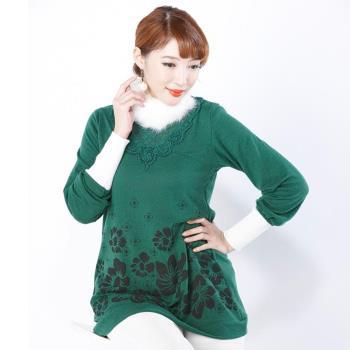 蘭陵限定兔絨感針織長上衣4入 103-09-38