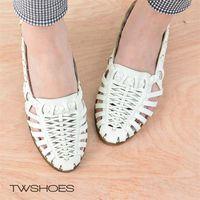 【TOMO】《質感真皮》鏤空魚骨造型設計尖頭低跟鞋【K160B3269】