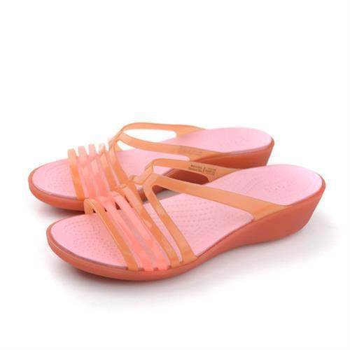 Crocs 拖鞋 桔 女鞋 no372
