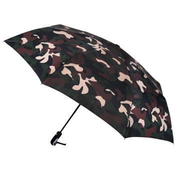 【2mm】超大!街頭迷彩 超大傘面自動開收傘(咖啡)