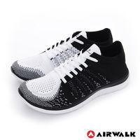 【美國 AIRWALK】凱普頓 編織透氣運動慢跑鞋 -男- 黑白