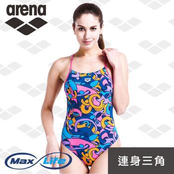 arena 連體三角泳衣 女士 游泳 健身 國旗旗幟 顯瘦修身 Max Life系列 官方正品 TSS6110WA