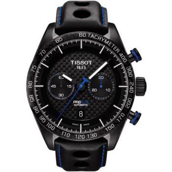TISSOT PRS516 計時機械腕錶-黑/45mm T1004273620100