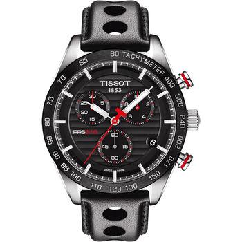 TISSOT PRS516 三眼計時腕錶-黑/42mm T1004171605100
