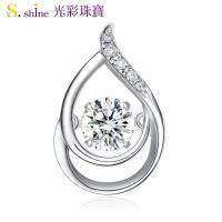 【光彩珠寶】10分 日本舞動鑽石項鍊 戀你一生
