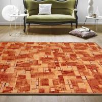 【范登伯格】新世代活潑生動地毯-星辰(橘)-200x260cm