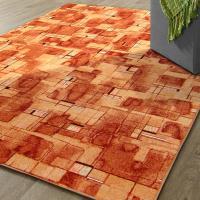 【范登伯格】新世代活潑生動地毯-星辰(橘)-100x150cm