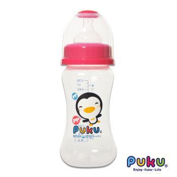 任-PUKU藍色企鵝 - 寬口PP奶瓶270cc(粉色)