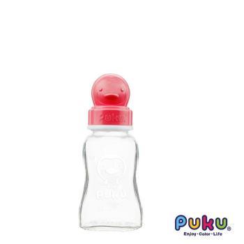 PUKU藍色企鵝 - 卡哇伊玻璃奶瓶-150cc(粉色)