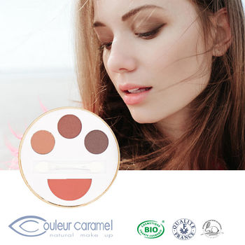 CouleurCaramel焦糖色 多維爾輕妝 眼影頰彩盒(CC焦糖色)