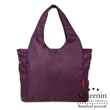 DF Queenin - 小資時尚百搭質感尼龍斜側肩背包-共2色