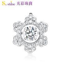 【光彩珠寶】10分 日本舞動鑽石項鍊 冬季戀歌
