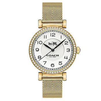 COACH Madison 奢華時尚水鑽馬車LOGO 女用腕錶(32mm/14502652)