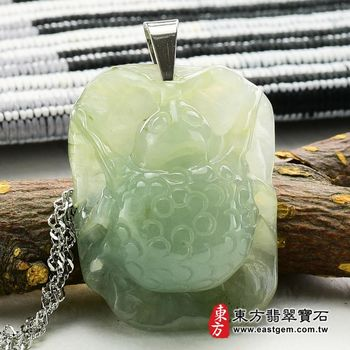 【東方翡翠寶石】甲蟲(富甲一方)A貨天然翡翠花件吊墜(糯種)CI001