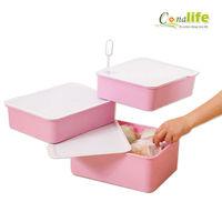 [Conalife] 創新附儲香設計三層分類收納盒(4入)