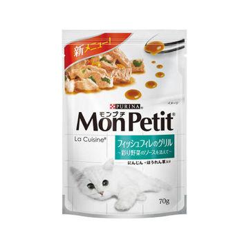 【MonPetit】貓倍麗 法式醬燒彩蔬魚片 貓調理包 70g X 24入