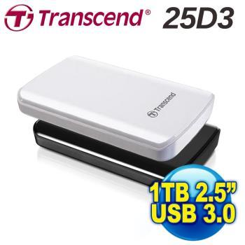 Transcend 創見 1TB 外接硬碟 USB3.0 2.5吋 行動硬碟 (TS1TSJ25D3)