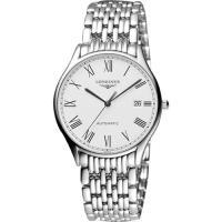 LONGINES浪琴 Lyre 琴韻羅馬經典機械腕錶-白/38mm L49604116