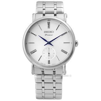SEIKO 精工 / 6G28-00X0S.SRK033J1 / Premier 承襲革新羅馬藍寶石水晶不鏽鋼手錶 白色 38mm