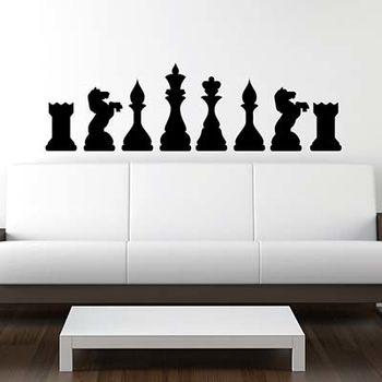 【摩達客】法國Ambiance 西洋棋 家飾設計壁貼