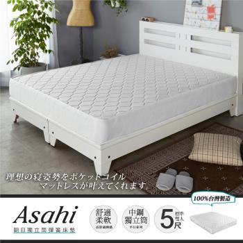 【H&D】二代國民熱銷獨立筒床墊-雙人5尺