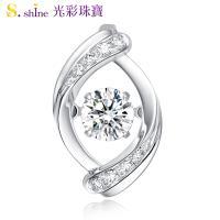 【光彩珠寶】日本舞動鑽石項鍊 浪漫蜜語 GIA0.3克拉 E VS2