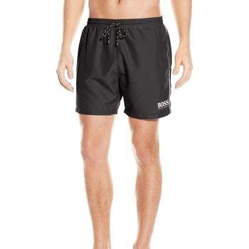 【HUGO BOSS】2016男時尚色彩對比黑色快乾游泳褲(預購)