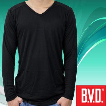 BVD 光動能迅熱V領長袖衫-台灣製造