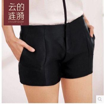 夏短褲熱褲女寬鬆顯瘦百搭黑色打底褲 2入