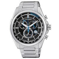【CITIZEN 星辰】光動能三眼計時不鏽鋼時尚腕錶(43mm/AT2130-83E)