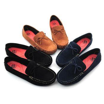【 101大尺碼女鞋】甜美蝴蝶豆豆鞋-大尺碼系列♥黑色/咖啡♥PNMN-AED