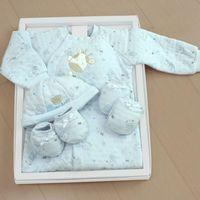 GMP BABY台灣製粉彩夾棉兩用兔裝 藍 彌月禮盒1組-ZW6-3-705-B