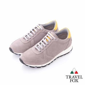 Travel Fox (男) - 温度 反毛皮都會慢跑運動鞋- 淺灰