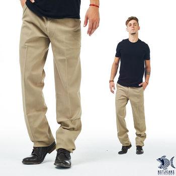 【NST Jeans】397(66403) 人間好時節 淡小麥黃 細織紋_斜口袋休閒褲(中腰)  重點在特殊紋理布料的休閒褲