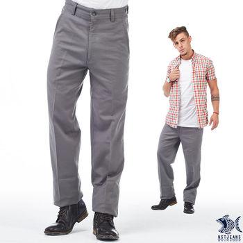 【NST Jeans】397(66411) 日式職男2.0 深灰斜口袋_商務休閒褲(中腰)  發想自日本上班族的俐落風格