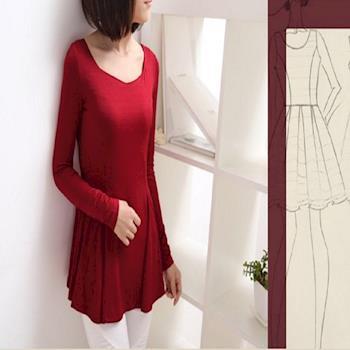秋冬新款長袖女T卹韓版大碼寬鬆顯瘦打底衫 2入