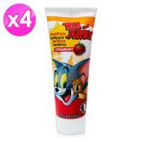 【義大利進口 Tom Jerry】含氟牙膏(草莓香)-75ml ( 4入組 )